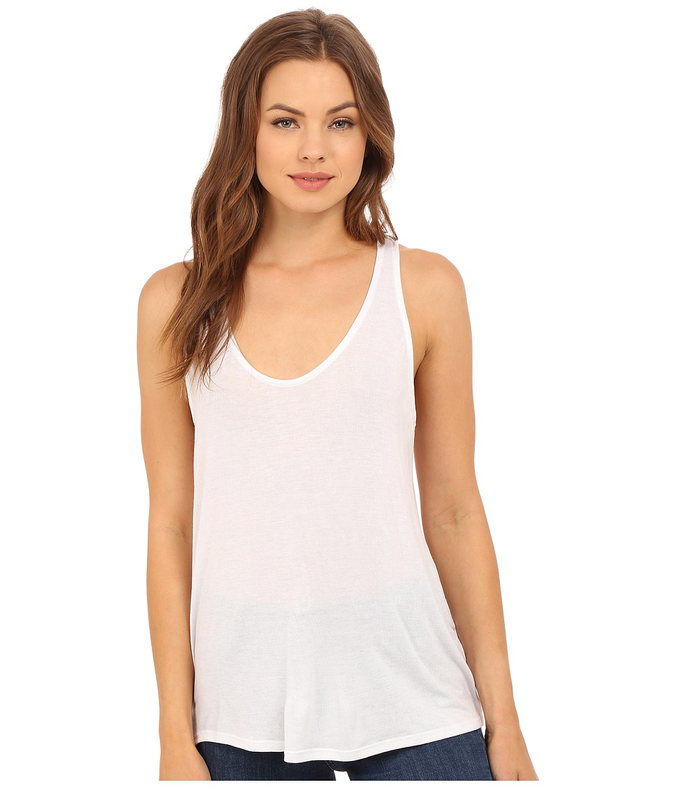 Project Social T - Promo Racerback Tank Top (White) Women's Sleeveless