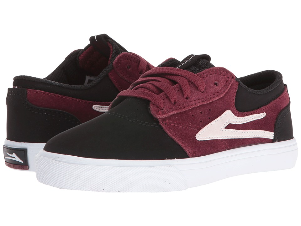 Lakai - Griffin (Little Kid/Big Kid) (Port/Black Suede) Men's Skate Shoes