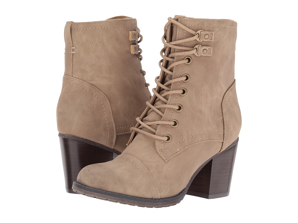 Madden Girl - Wilmar (Taupe Paris) Women's Lace-up Boots