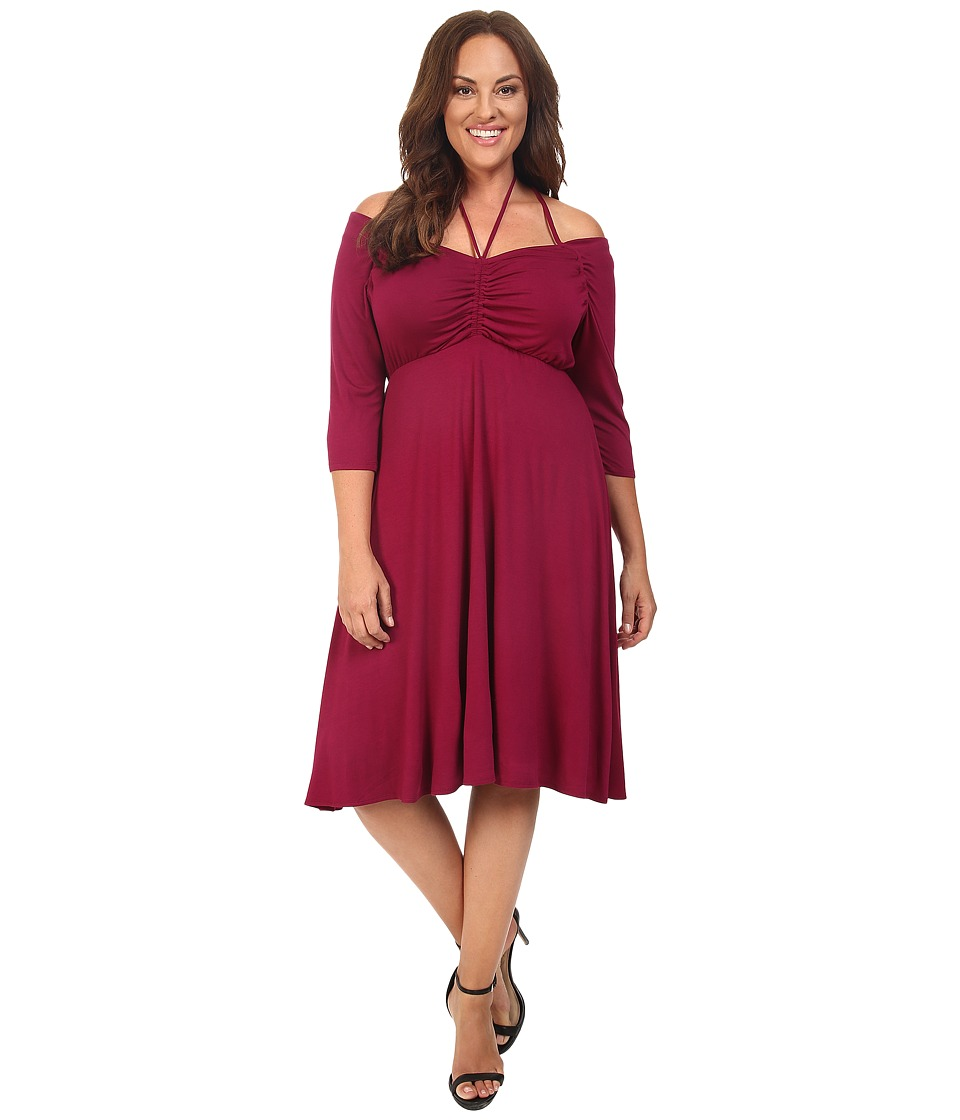 Kiyonna - Enticing Tie Dress (Raspberry Romance) Women's Dress