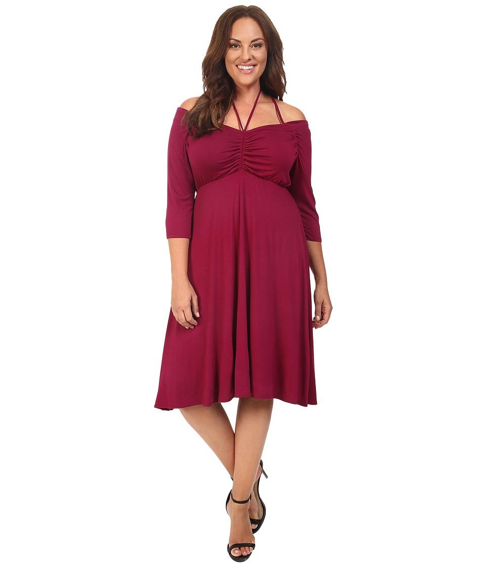 Kiyonna Enticing Tie Dress (Raspberry Romance) Women