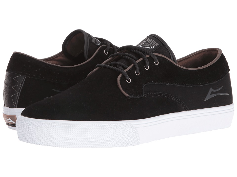 Lakai - Riley Hawk (Black Suede/Brown) Men's Skate Shoes