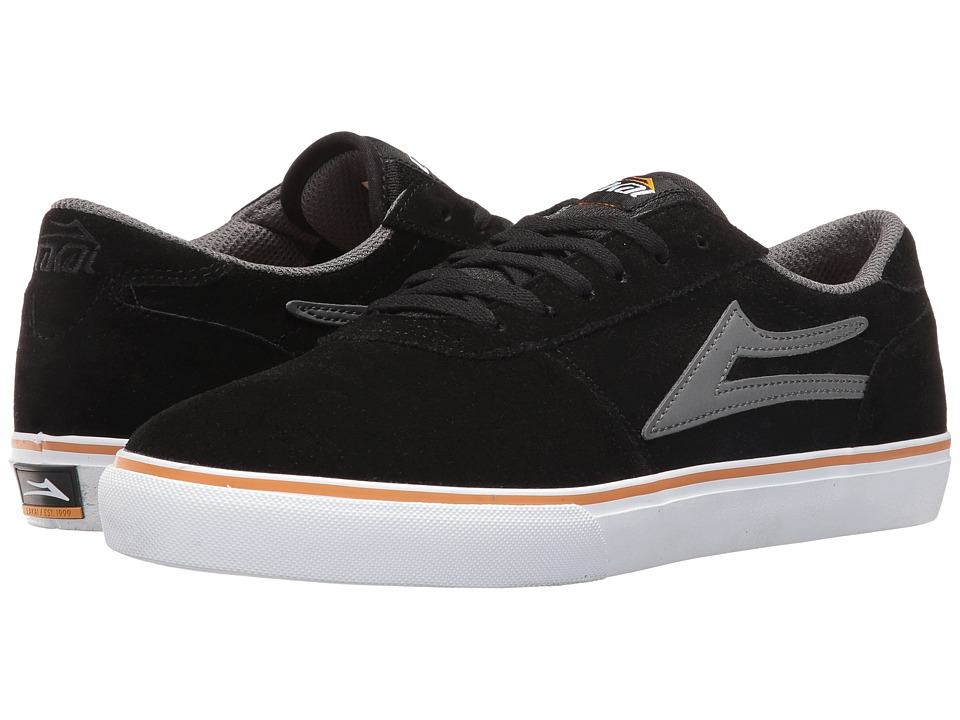 Lakai - Manchester Select (Black/Grey Suede) Men's Skate Shoes