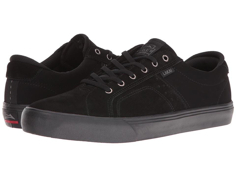 Lakai - Flaco (Black/Black Suede) Men's Skate Shoes