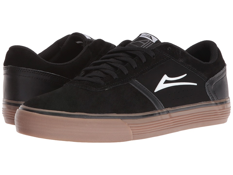 Lakai - Vincent 2 (Black/Gum Suede) Men's Skate Shoes