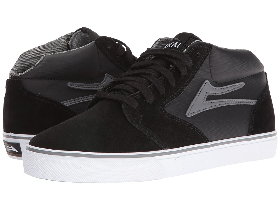 Lakai - Fura High Weather Treated (Black/Grey Suede) Men's Skate Shoes
