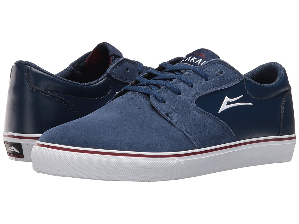 Lakai - Fura (Navy/White Suede) Men's Skate Shoes