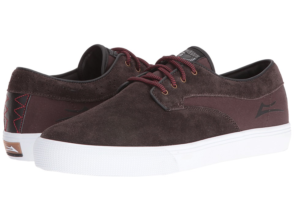 Lakai - Riley Hawk (Chocolate Suede) Men's Skate Shoes