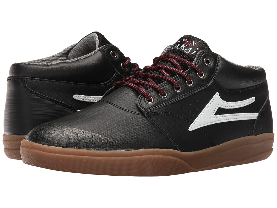 Lakai Griffin Mid XLK (Black/Gum Synthetic) Men