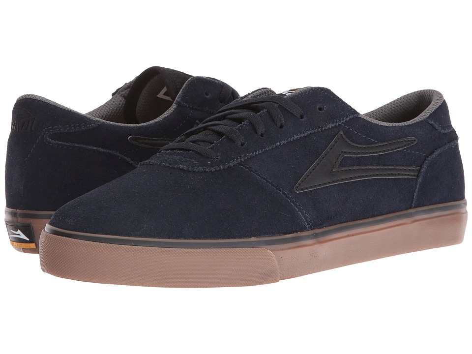 Lakai - Manchester Select (Navy/Gum Suede) Men's Skate Shoes