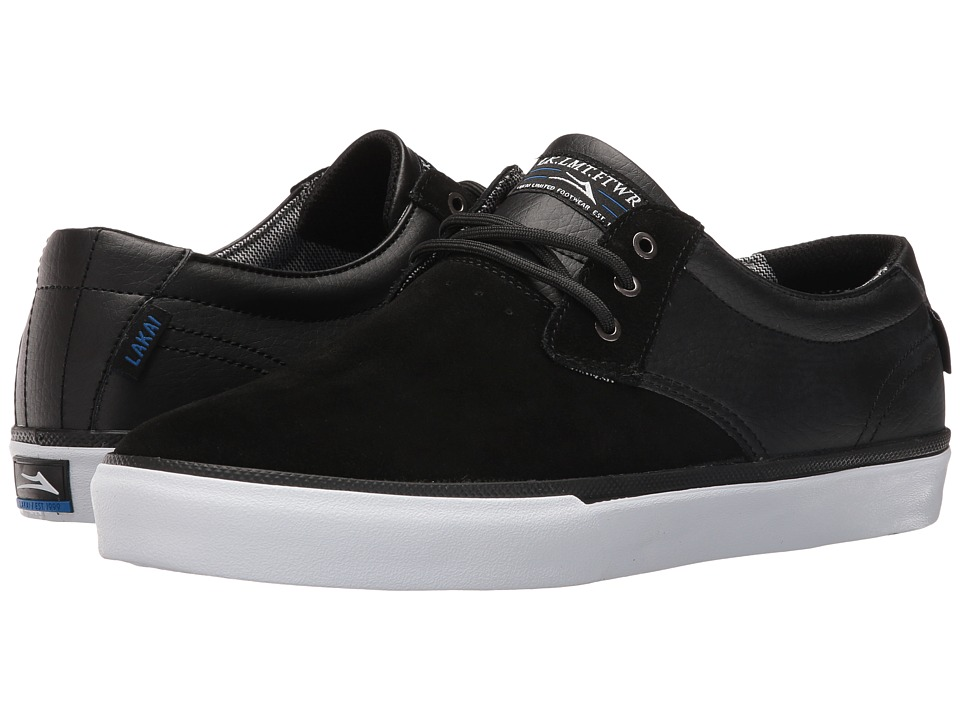 Lakai - Daly (Black Suede/Black Leather) Men's Shoes