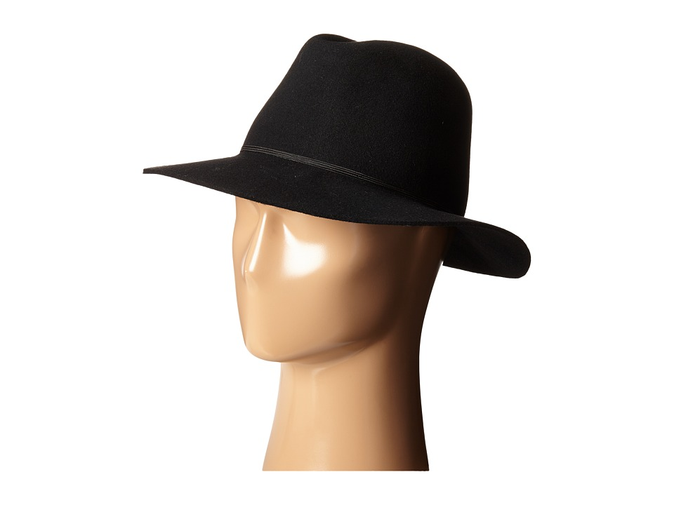 Hat Attack - Water Resistant Wool Felt (Black) Caps