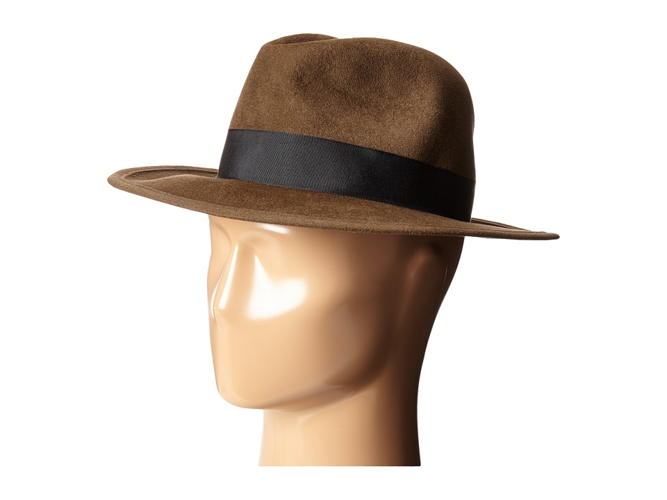 Hat Attack - Luxe Medium Brim with Classic Bow (Brown/Black) Caps