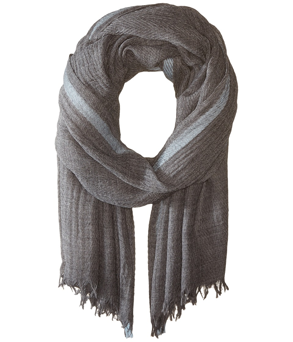 Hat Attack - Color Border Scarf (Grey/Light Blue) Scarves