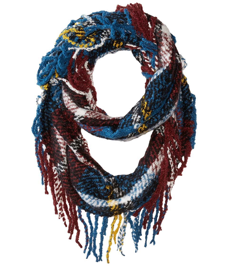 Hat Attack - Fringed Loop (Blue Plaid) Scarves