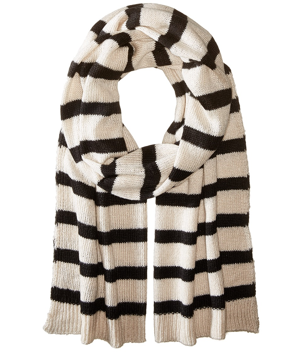 Hat Attack - Stripe Scarf (Wheat/Black) Scarves
