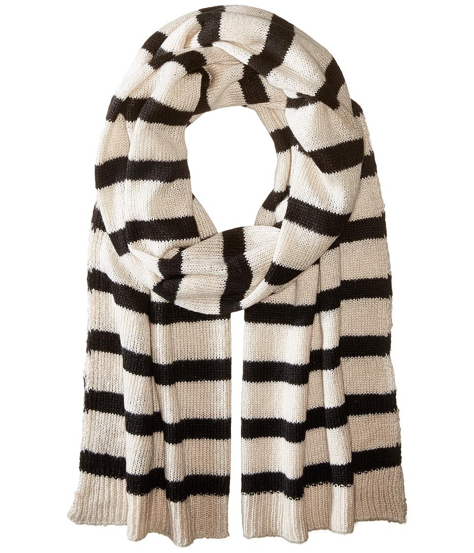 Hat Attack - Stripe Scarf (Wheat/Black) Scarves