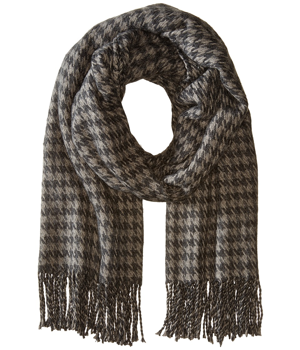 Hat Attack - Houndstooth Blanket Scarf (Grey) Scarves