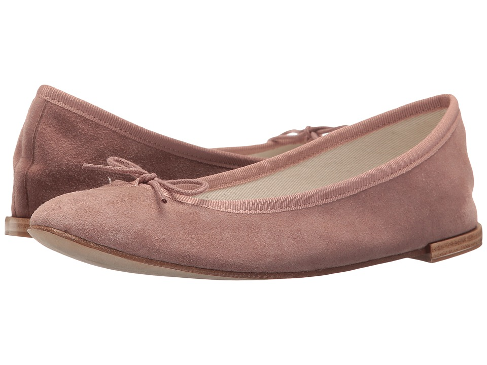 Repetto Cendrillon (Atlas/ Chatain (Pink/Taupe Suede)) Women