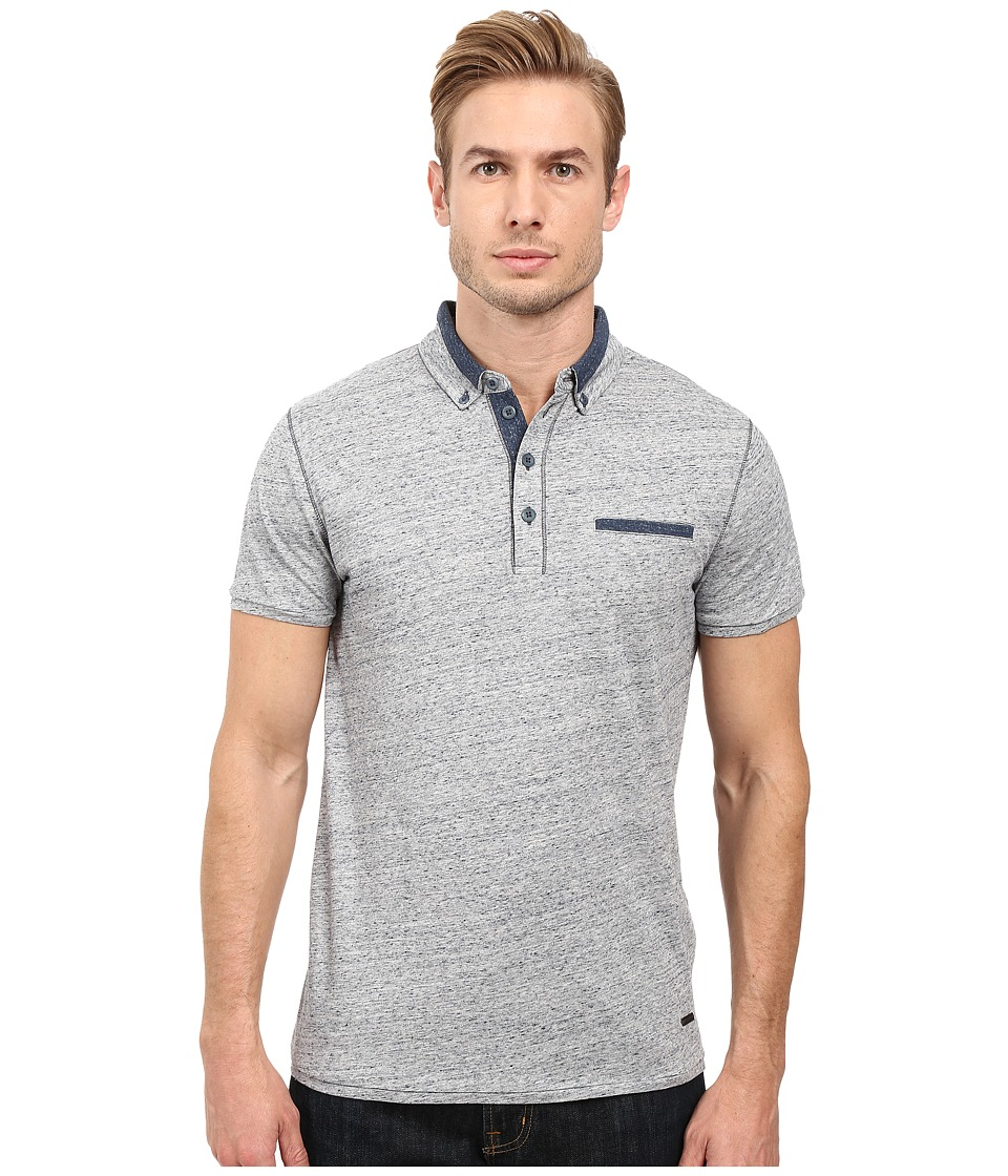 BOSS Orange - PYX Short Sleeved Polo (Grey) Men's Short Sleeve Pullover