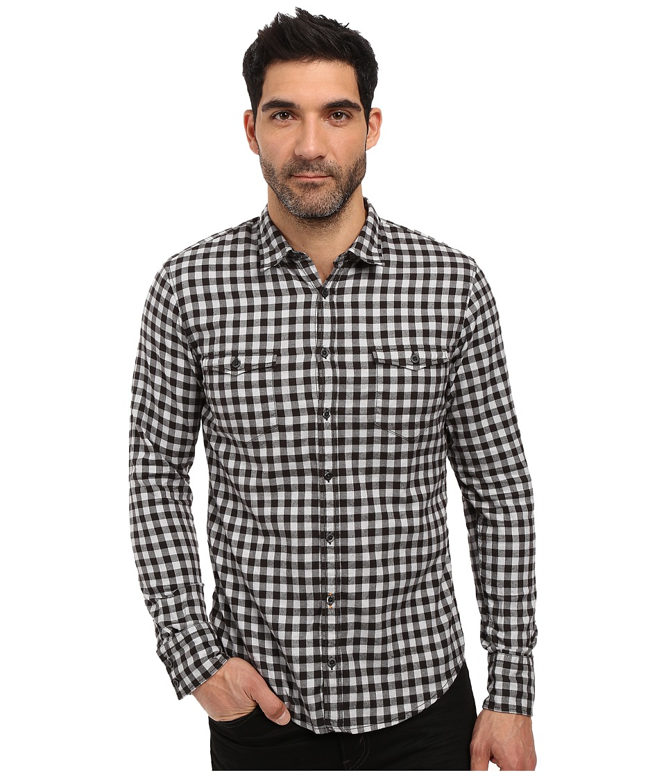 BOSS Orange - Edoslime Small Buffalo Plaid Shirt (Black) Men's Long Sleeve Button Up