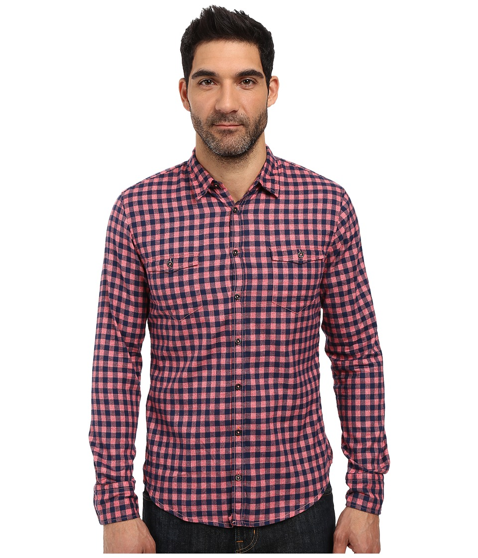 BOSS Orange - Edoslime Small Buffalo Plaid Shirt (Red) Men's Long Sleeve Button Up