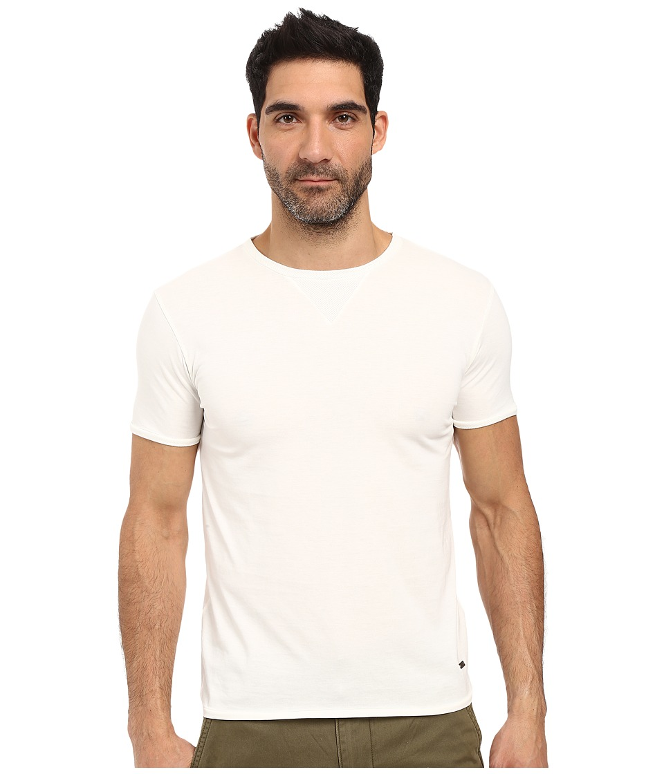 BOSS Orange - Toern Short Sleeved Crew with Structure Detail (White) Men's Clothing