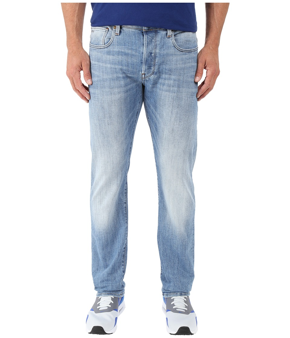 G-Star - 3301 Straight Fit Jeans in Aiden Stretch Denim Light Aged (Light Aged) Men's Jeans