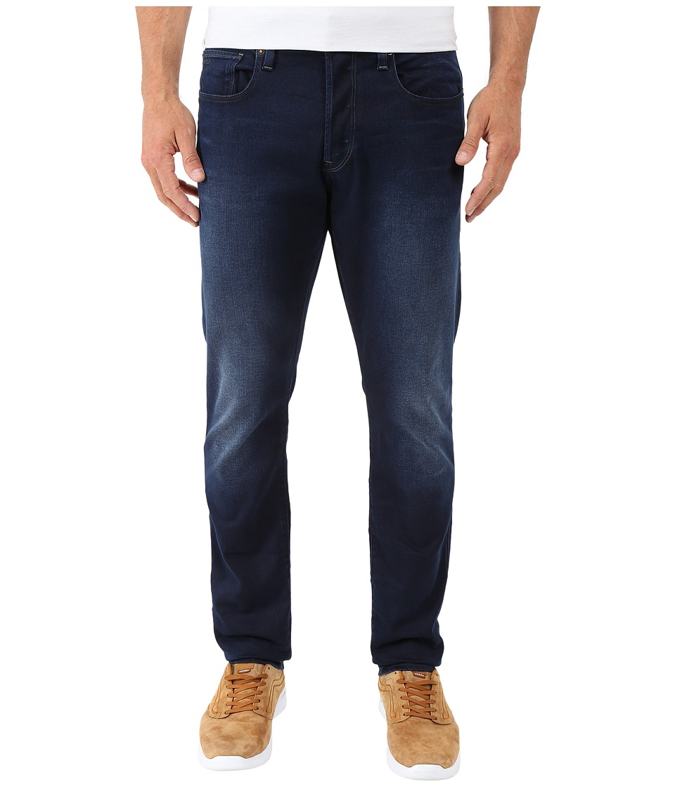 G-Star - 3301 Tapered Fit Jeans in Slander Indigo Superstretch Dark Aged (Dark Aged) Men's Jeans