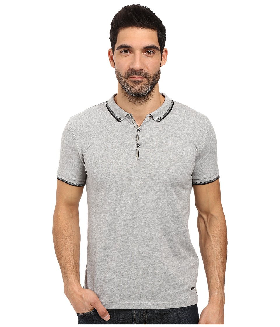 BOSS Orange - Pejo 1 Short Sleeved Polo (Grey) Men's Short Sleeve Pullover
