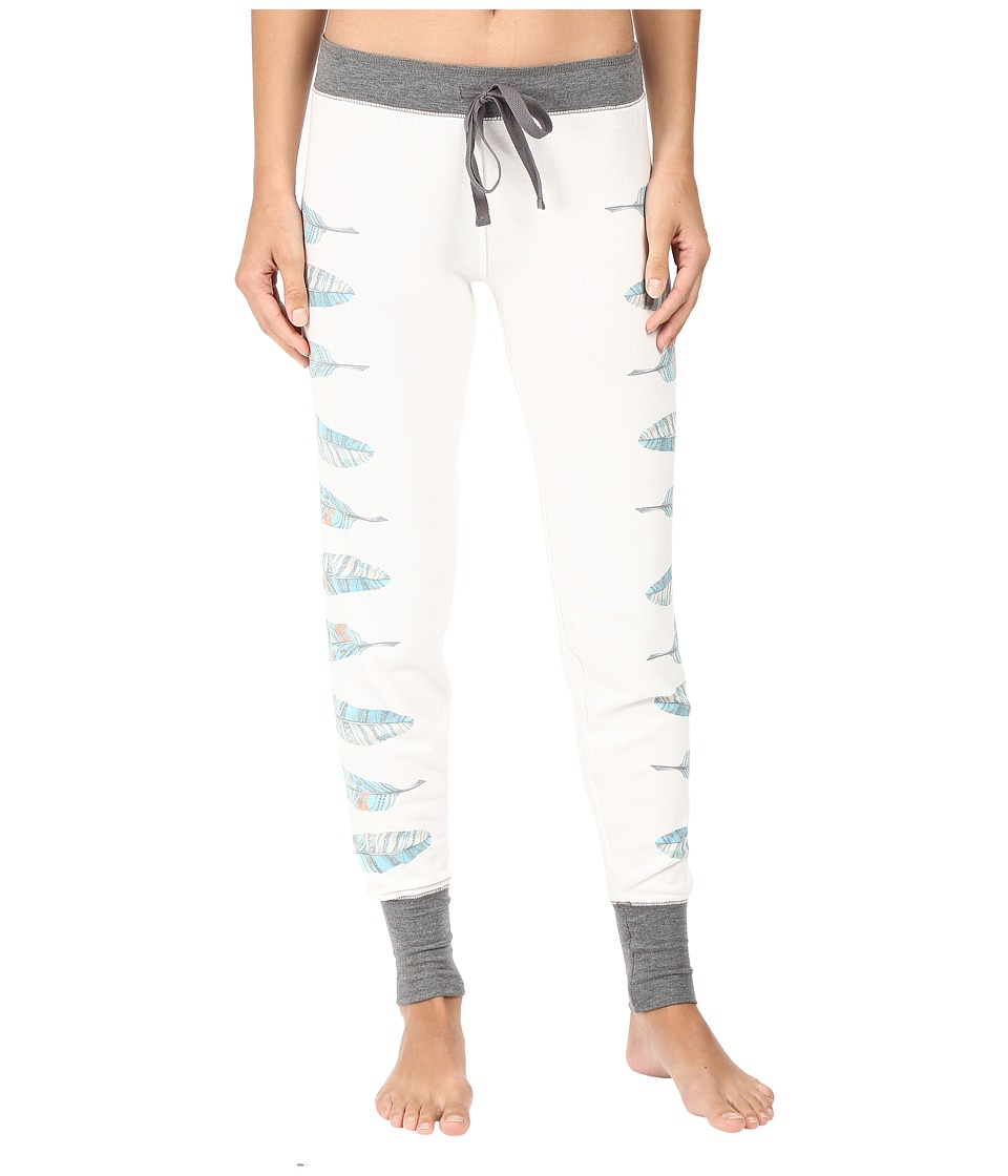 P.J. Salvage - Southwest Feathers Jogger (Soft White) Women's Pajama
