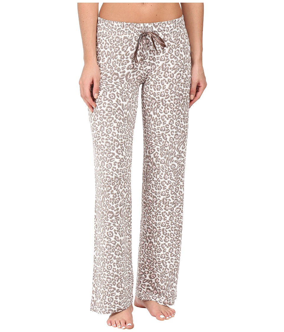 P.J. Salvage - Coco Chic Leopard Print PJ Pants (Natural) Women's Pajama