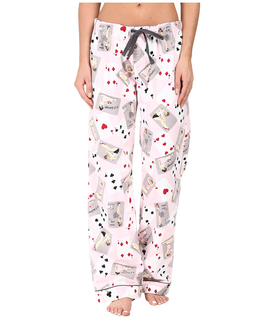 P.J. Salvage - Poker Pin Ups PJ Pants (Pink) Women's Pajama