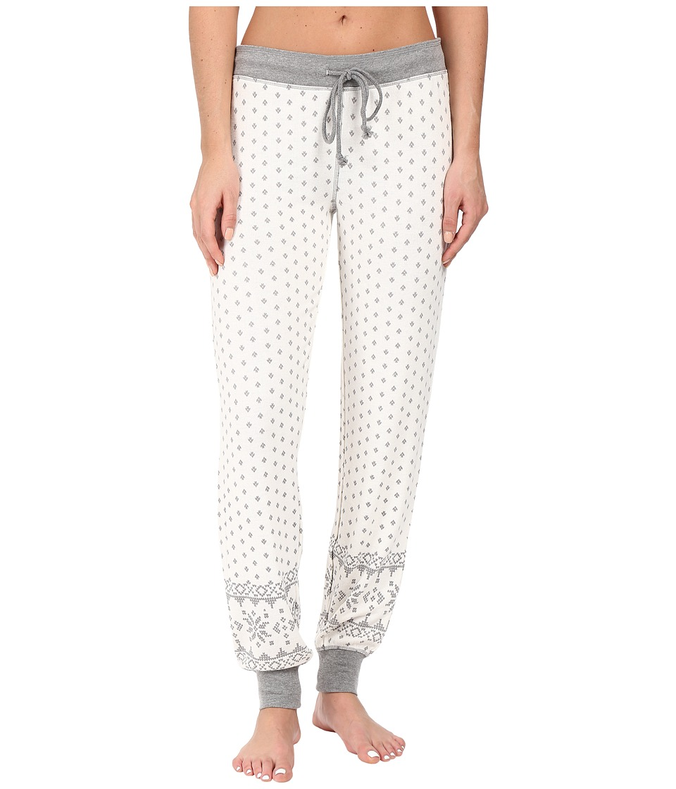 P.J. Salvage - Grey Fair Isle Sweatpants (Natural) Women's Pajama