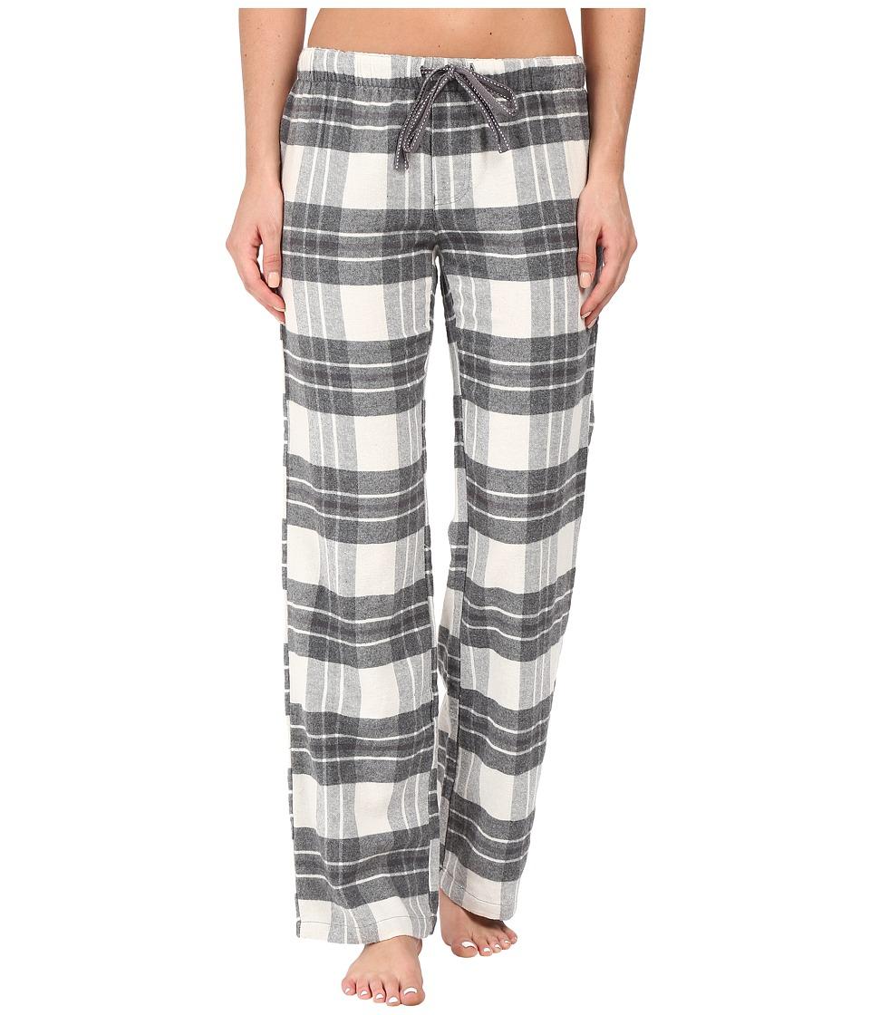 P.J. Salvage - Grey Plaid Lounge Pants (Natural) Women's Pajama