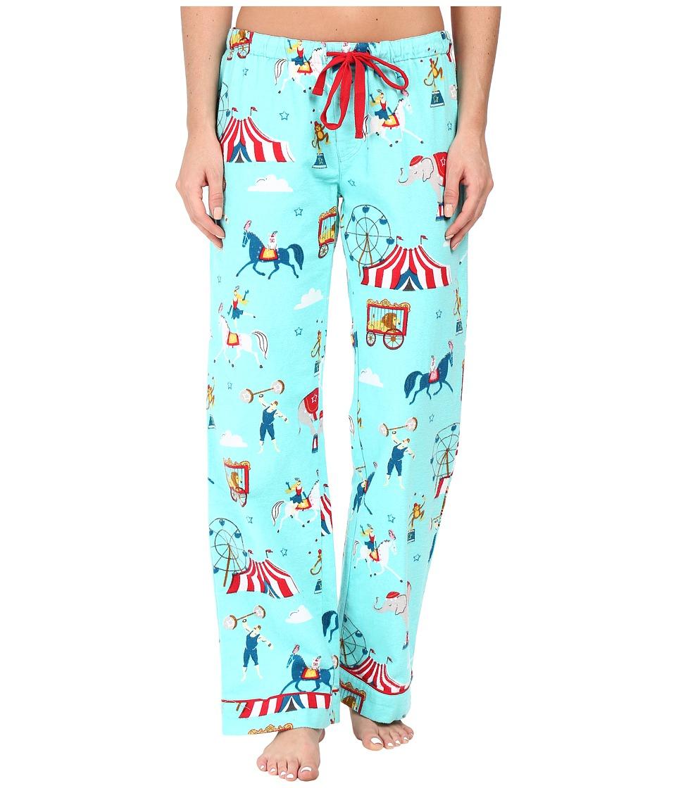 P.J. Salvage - Circus Flannel PJ Pants (Aqua) Women's Pajama