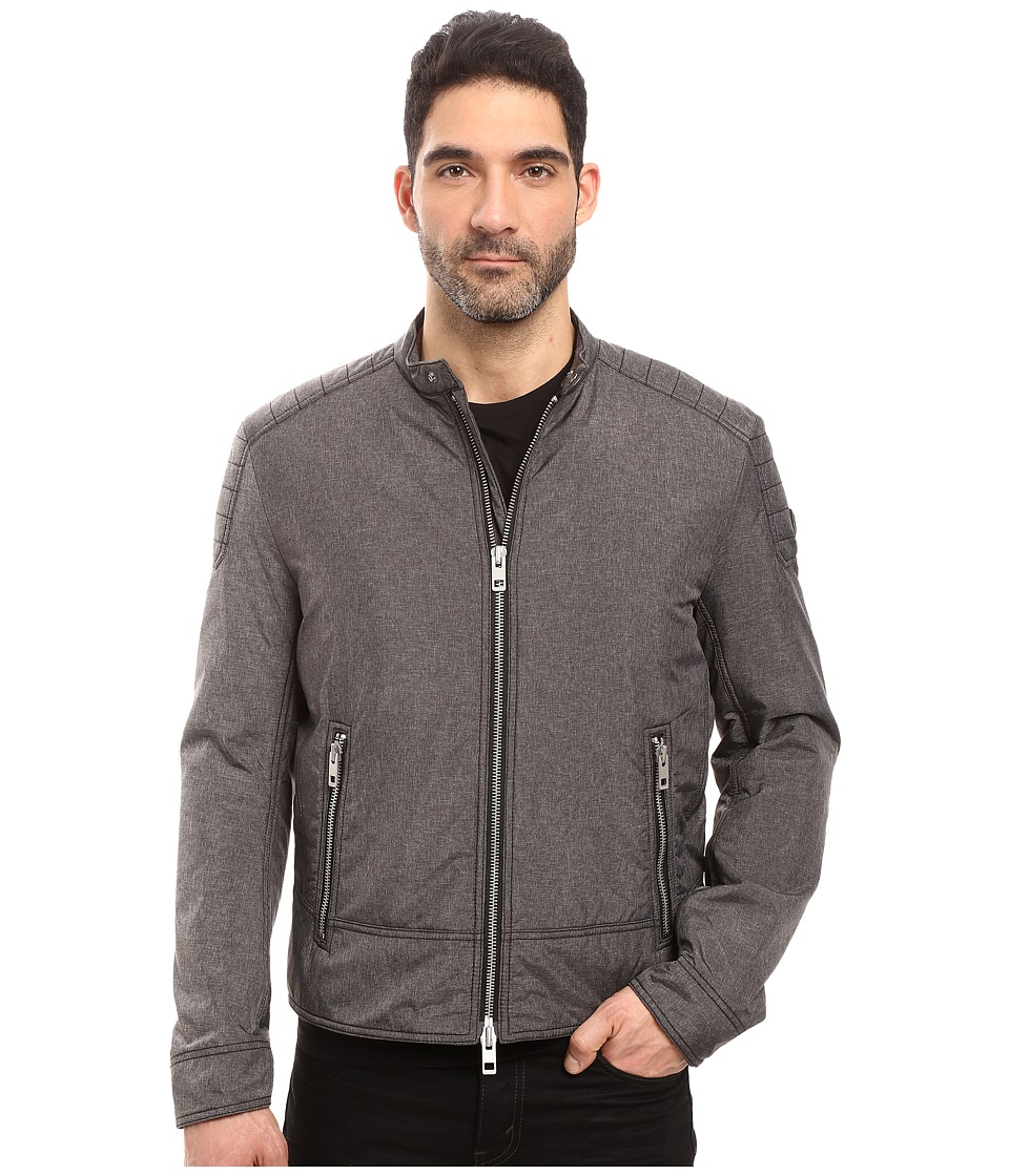 BOSS Orange - Oryder Moto Jacket (Grey) Men's Coat