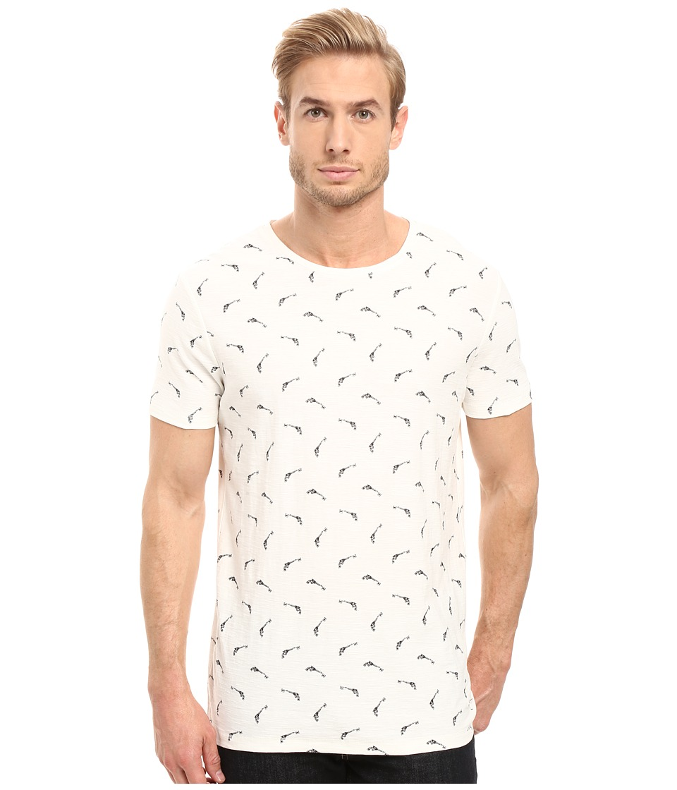 BOSS Orange - Thien All Over Printed T-Shirt (White) Men's T Shirt