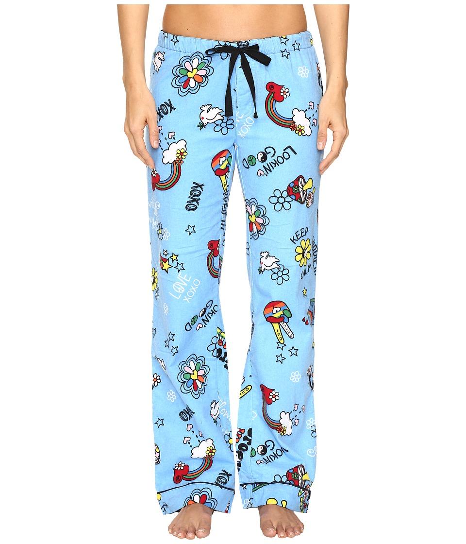 P.J. Salvage - Good Vibes Flannel PJ Pants (Blue) Women's Pajama