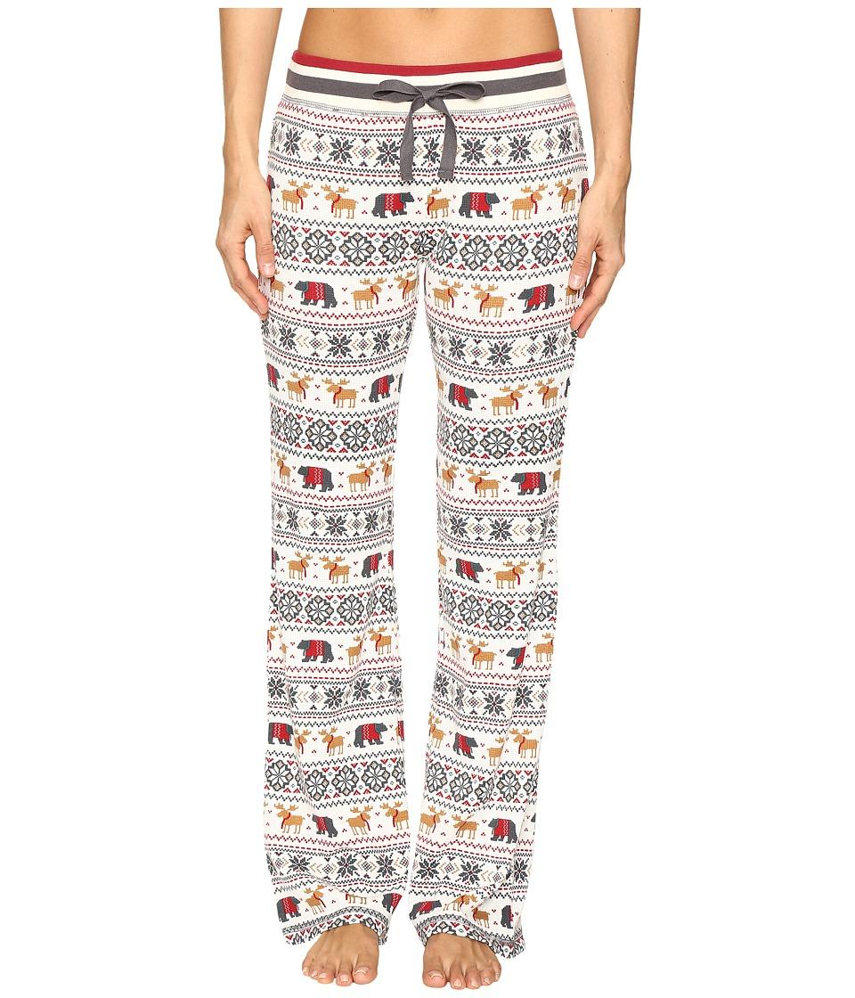 P.J. Salvage - Mountain Fair Isle PJ Pants (Natural) Women's Pajama