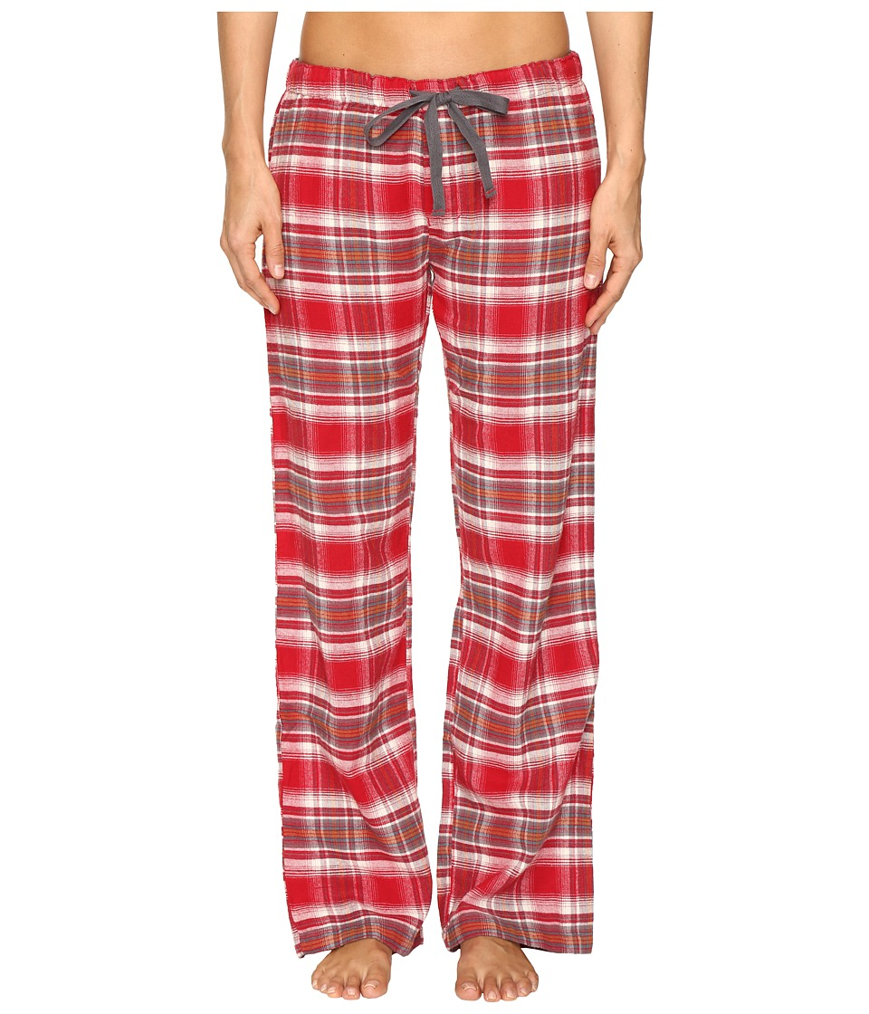 P.J. Salvage - Mountain Plaid PJ Pants (Brick) Women's Pajama
