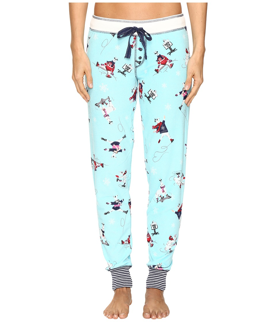 P.J. Salvage - Ice Ice Llama Thermal Jogger (Aqua) Women's Pajama