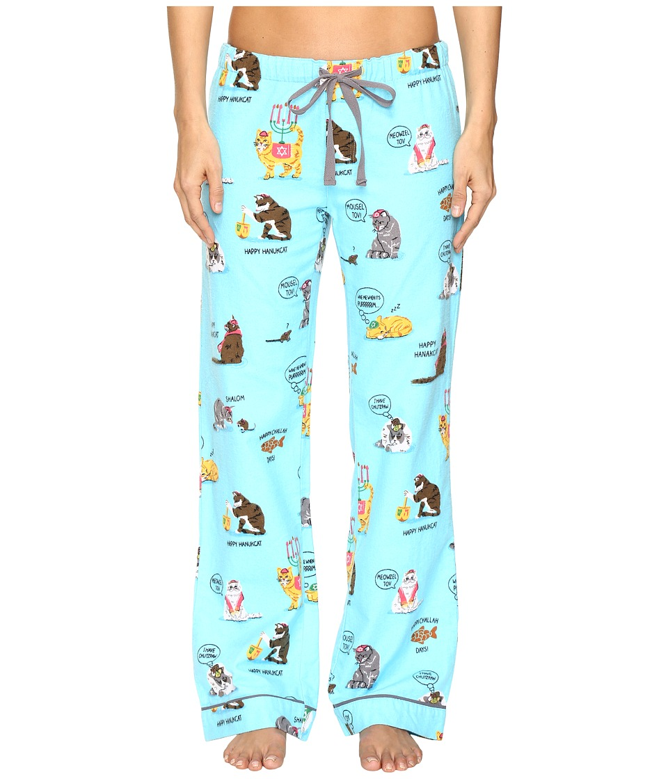 P.J. Salvage - Hannukkah Cats PJ Pants (Sky) Women's Pajama