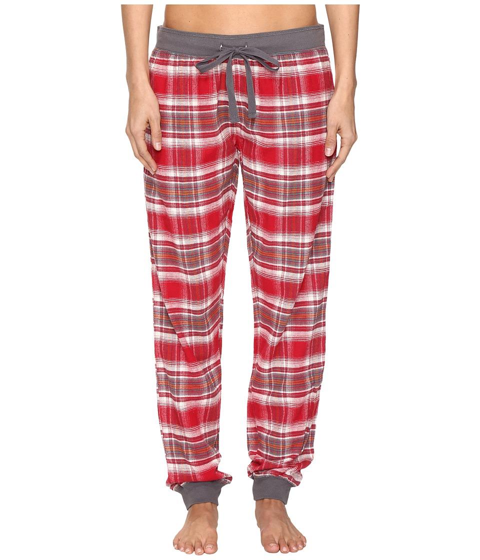 P.J. Salvage - Moutain Plaid Jogger (Brick) Women's Pajama