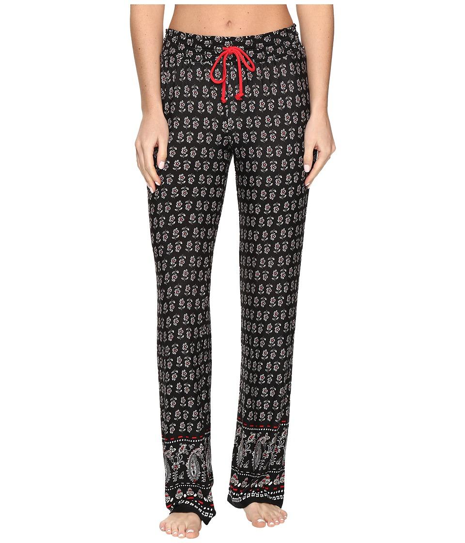 P.J. Salvage - Classically Cool Paisley Pants (Black) Women's Pajama