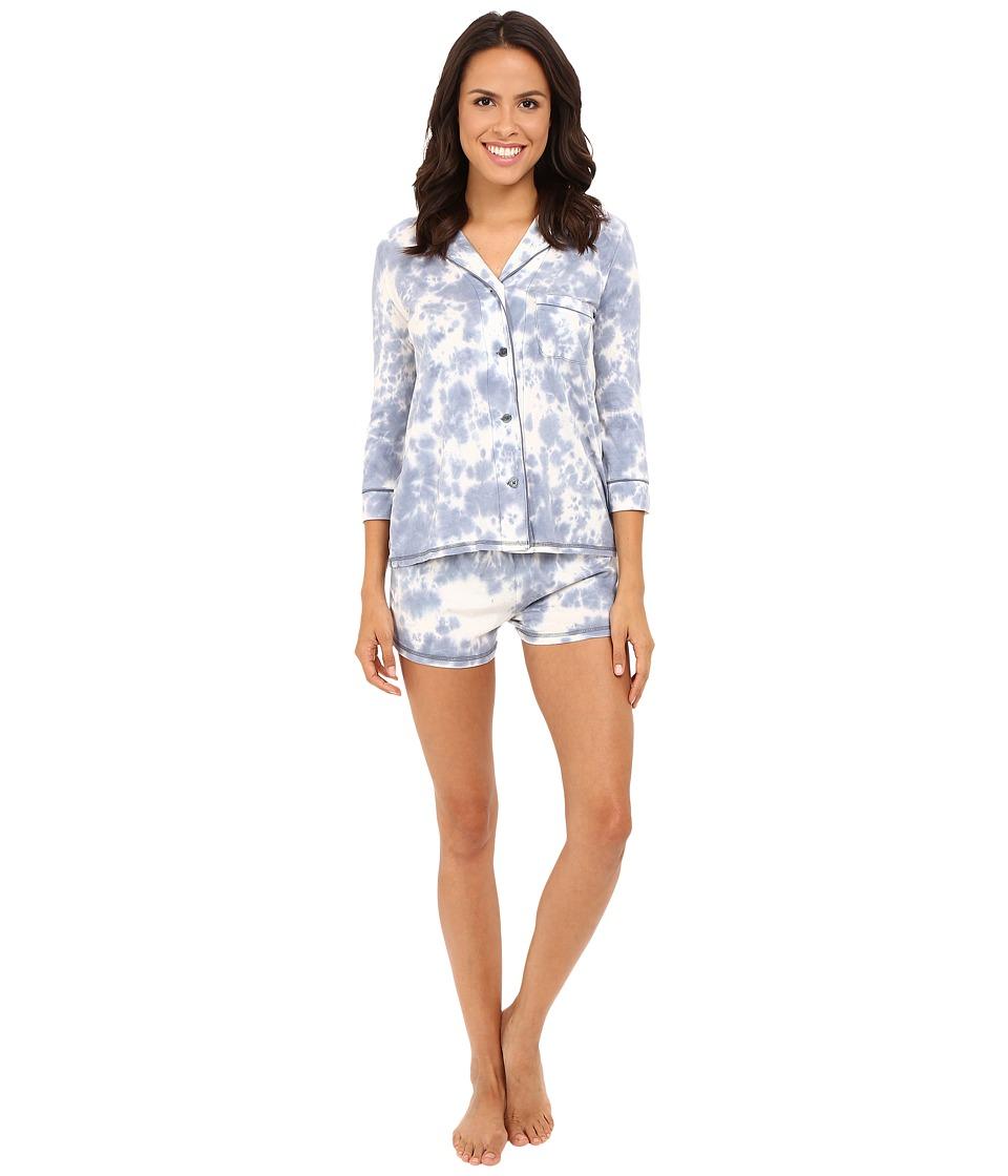 P.J. Salvage - Desert Dream Tie-Dye Shorty PJ Set (Denim) Women's Pajama Sets