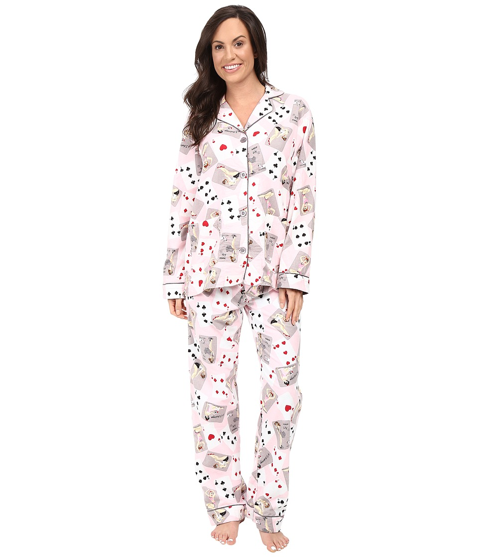 P.J. Salvage - Poker Pin Ups PJ Set (Pink) Women's Pajama Sets