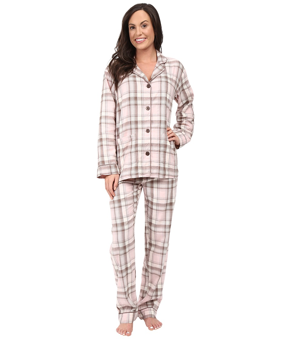 P.J. Salvage - Coco Chic Plaid PJ Set (Pink) Women's Pajama Sets
