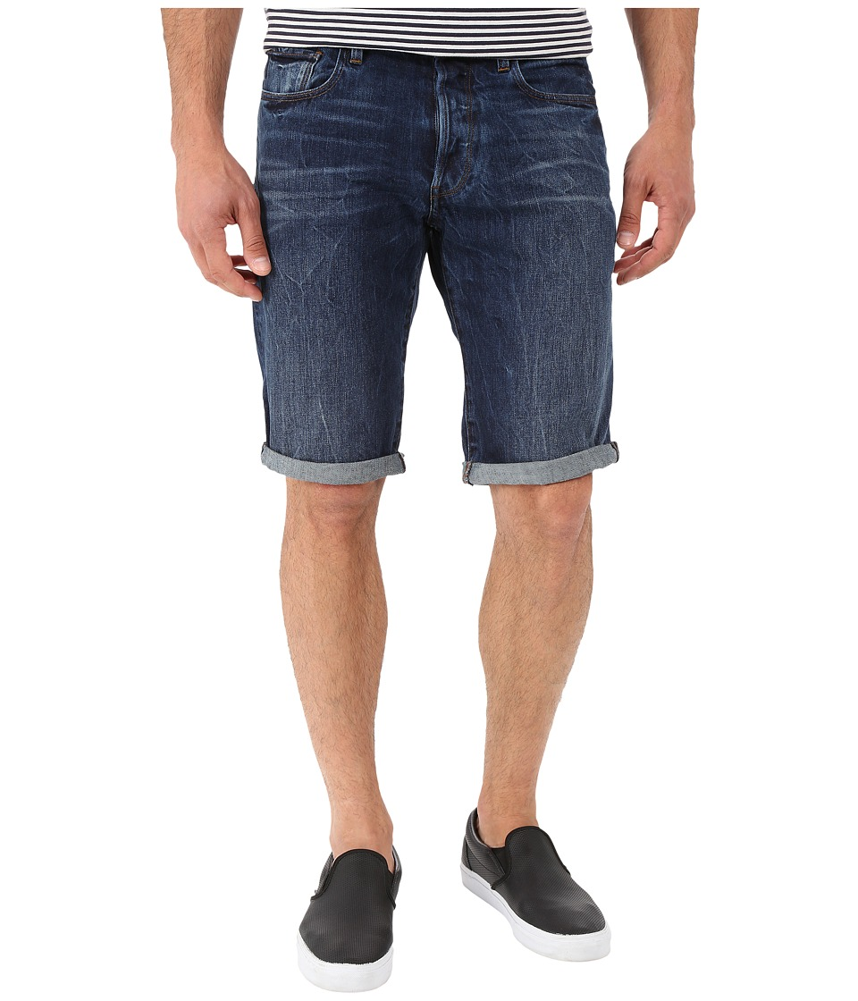 G-Star - 3301 Tapered Shorts in Hadron Denim Vintage Dark Aged (Vintage Dark Aged) Men's Shorts