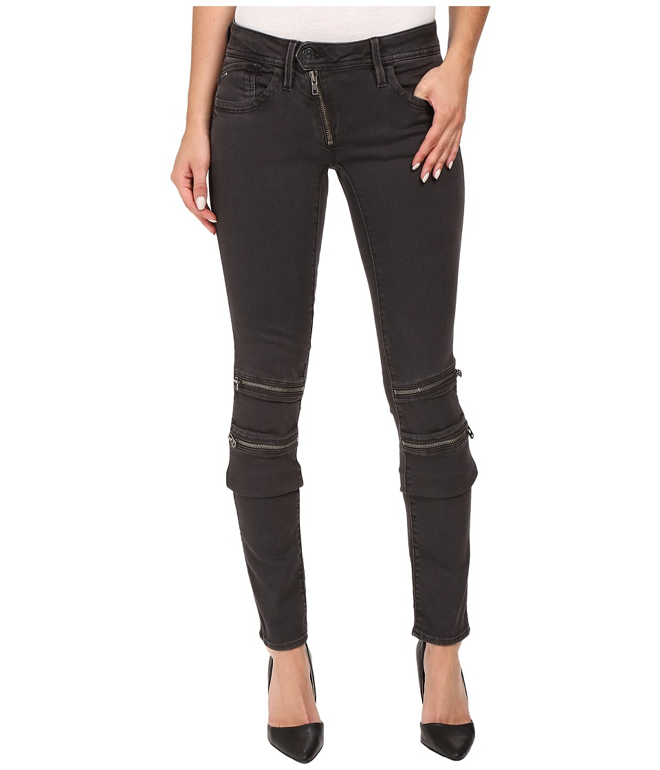 G-Star - Lynn Custom Mid Skinny Jeans in Slander Superstretch Crieff/Black (Crieff/Black) Women's Jeans